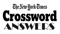 NYTCrosswordAnswers.com